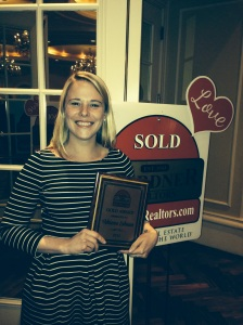 Adrienne LaBauve wins a Gold Award for hard work & productivity in her first year of real estate with Gardner Realtors!